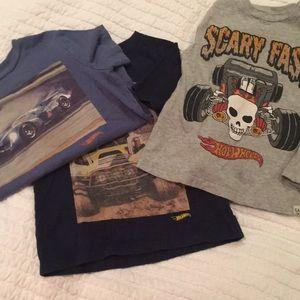 Lot of 3 Gap Hot Wheels Shirts 🚗